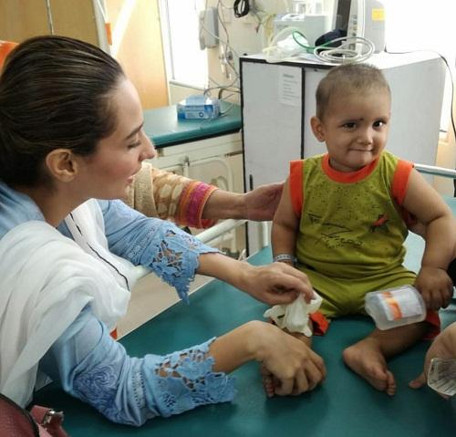 Momal Sheikh Visits Indus Hospital