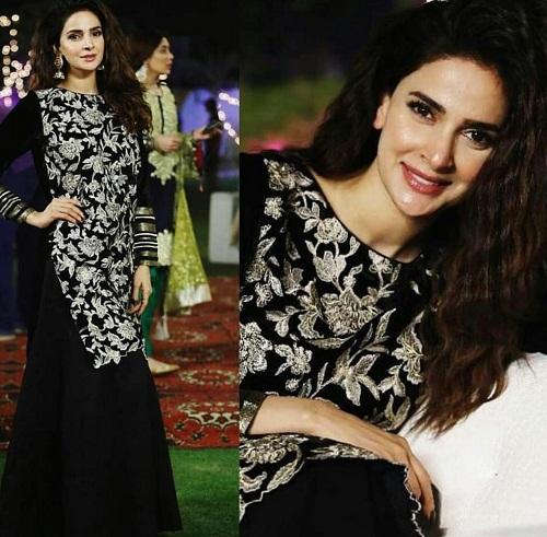 Saba Qamar Looks Stunning On The Sets Of Cheekh
