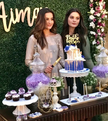 Aiman Khan Bidal Shower