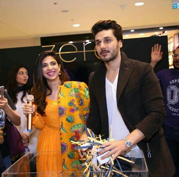 Sonya Hussyn And Ahsan Khan At An Event