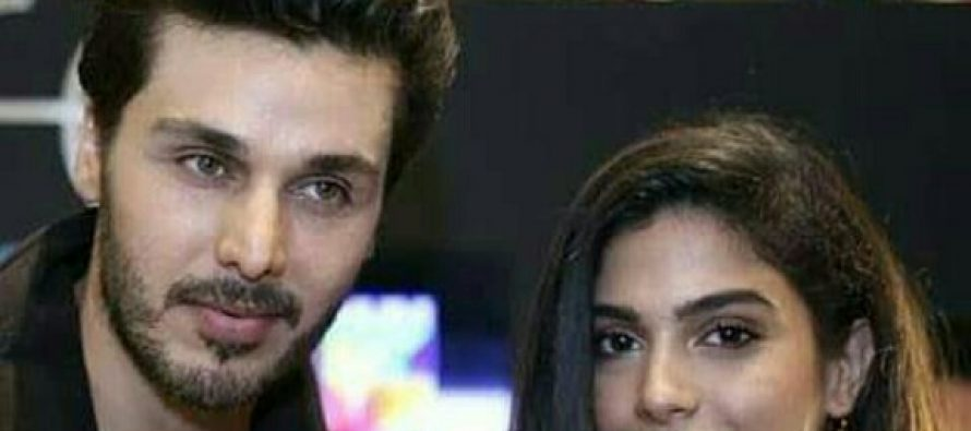 Sonya Hussyn And Ahsan Khan At An Event