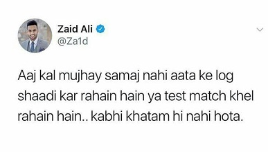 Zaid Ali Is Fed Up Of Month Long Wedding Functions