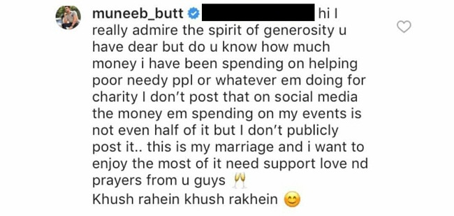 Muneeb Butt Replies To People Trolling His Wedding