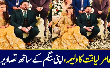 Aamir Liaquat Walima Pictures Shocked Everyone