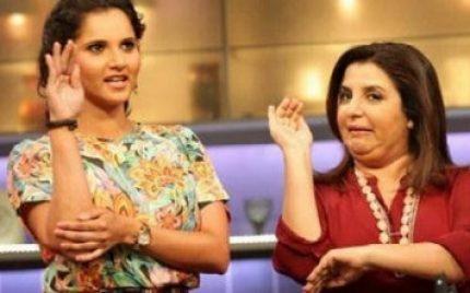 Farah Khan Visits Sania Mirza