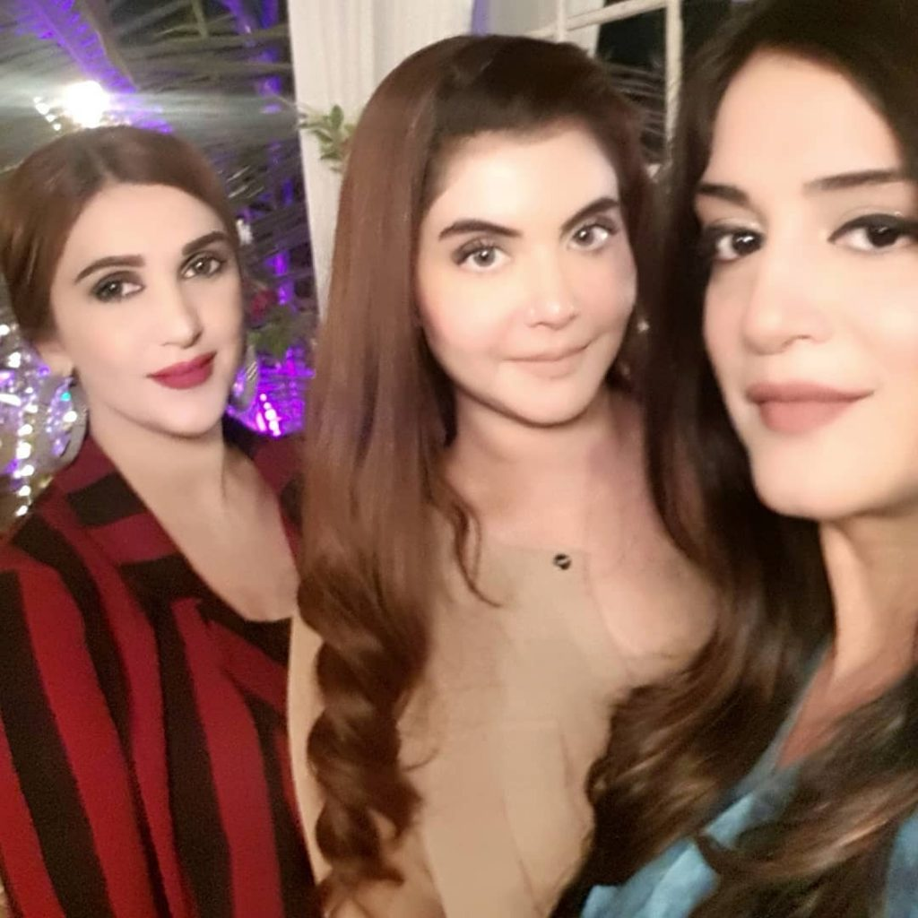 Nida Yasir And Ayeza Khan Attend A Party