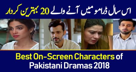 Best On-Screen Characters of Pakistani Dramas 2018