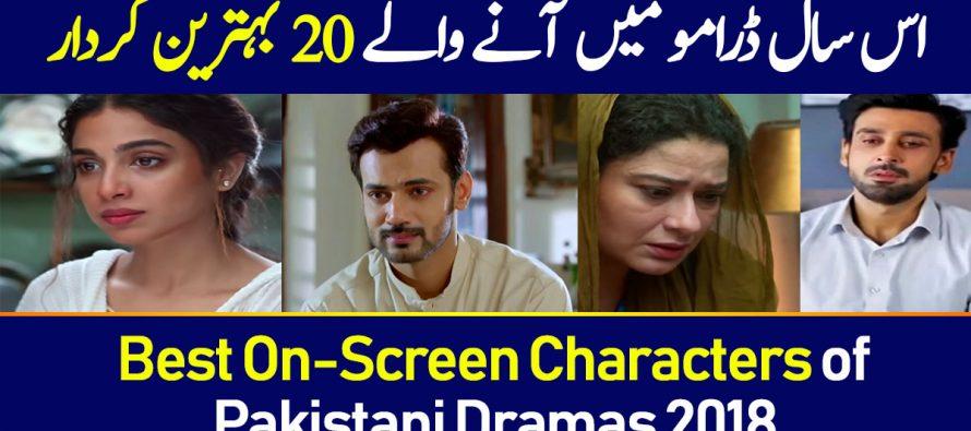 Best On-Screen Characters of Pakistani Dramas 2018