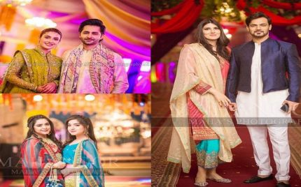 Celebrities At Aiman Khan's Mehndi Exclusive Pictures