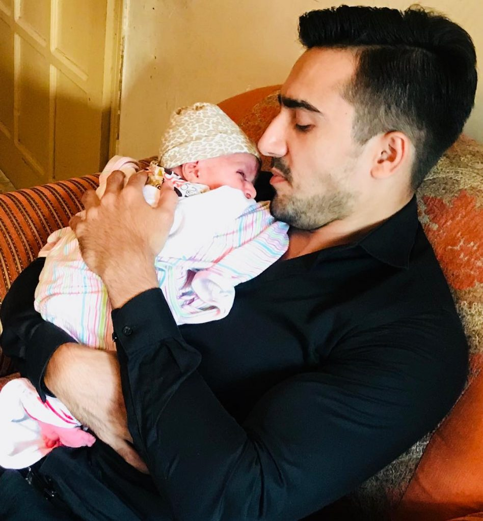 Hammad And Faraz Farooqui With Their Newborns