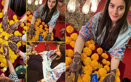Aiman Khan Mehndi Preparations – Exclusive Pictures & Videos