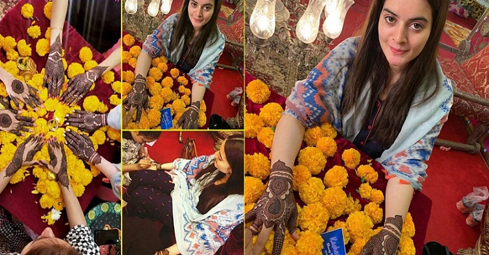 Aiman Khan Mehndi Preparations - Exclusive Pictures & Videos