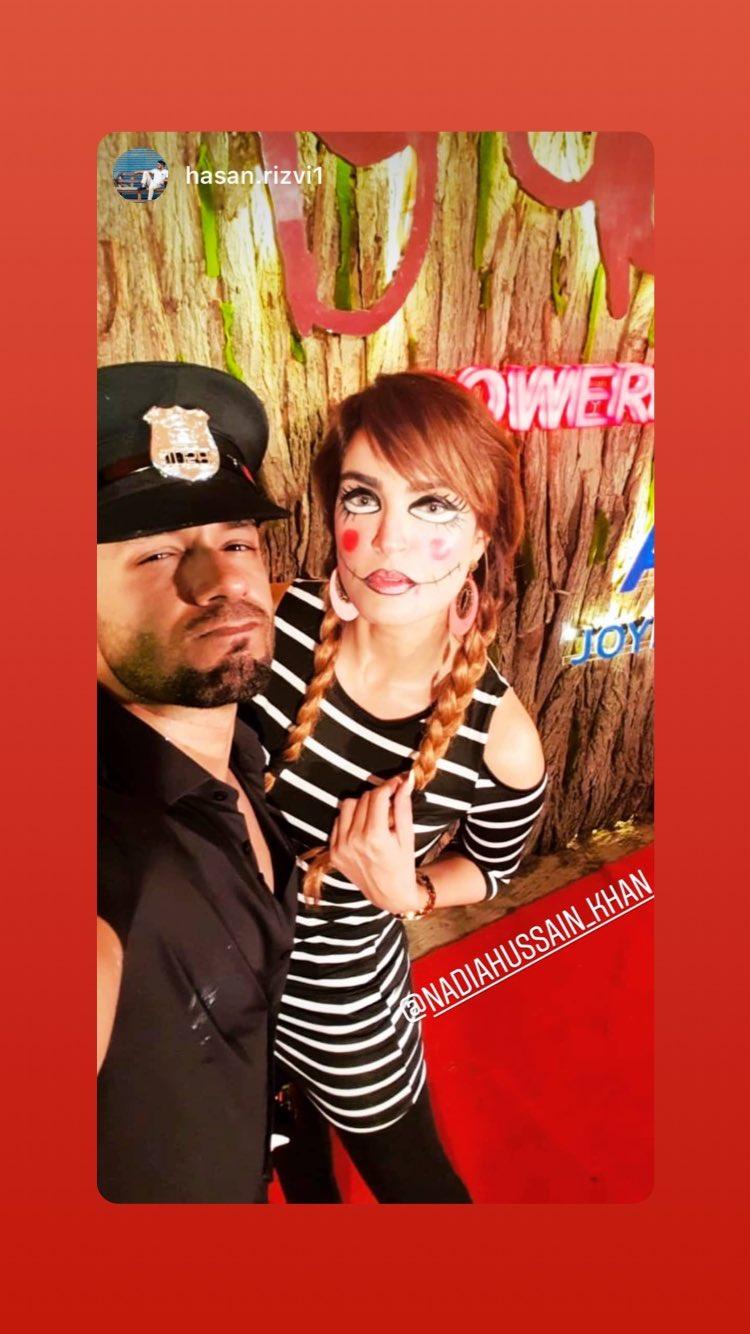 Celebrities At Hassan Rizvi's Halloween Bash