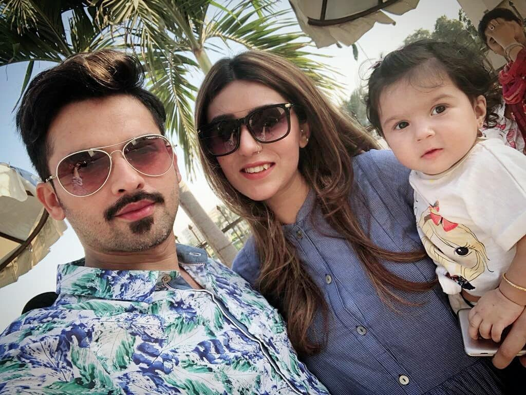 Nouman Habib With Wife And Daughter