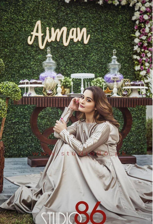 Aiman khan bridal shower