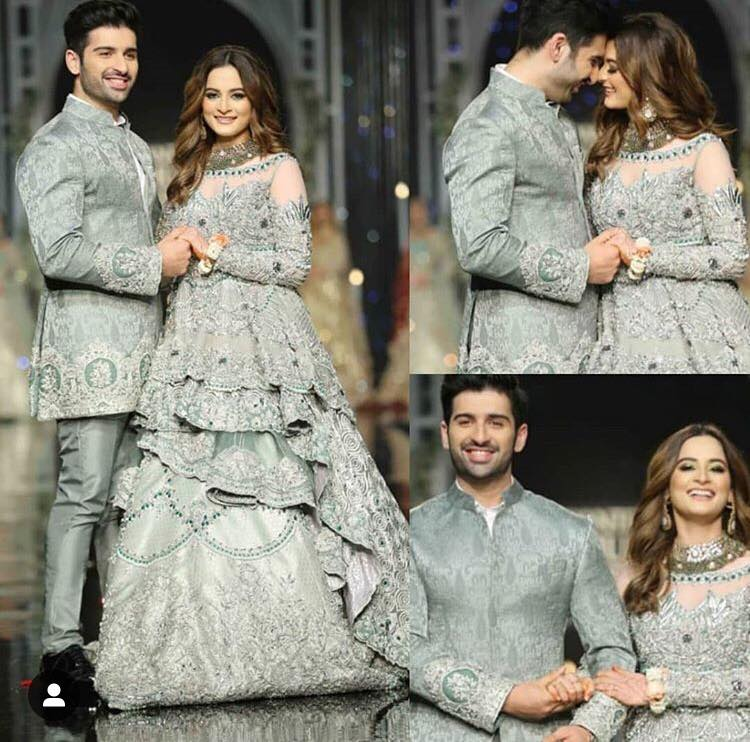 Aiman Khan and Muneeb Butt Bridal Couture Week Pictures