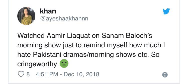 People Are Outraged At Sanam Baloch's Twisted Mentality