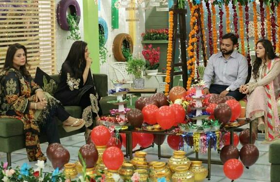 Sara Razi Khan With Husband On Morning Show