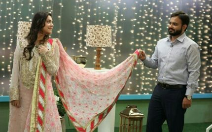 Sara Razi Khan With Husband On Morning Show
