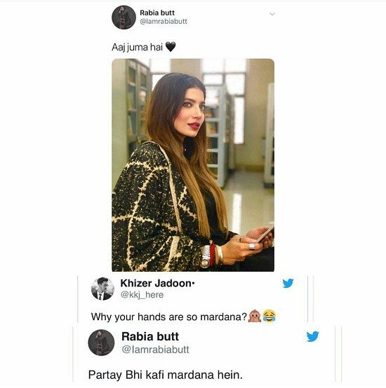 Rabia Butt Claps Back At A Troll