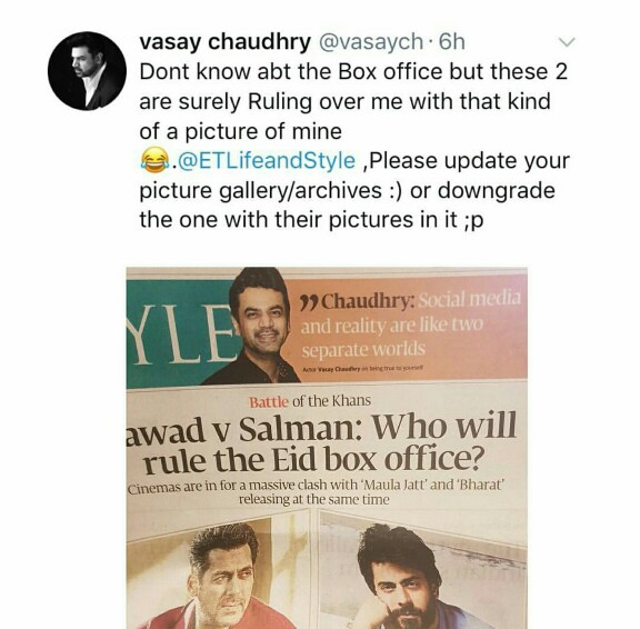 Vasay Chaudhry Has A Hilarious Reaction To One Of His News Cutting