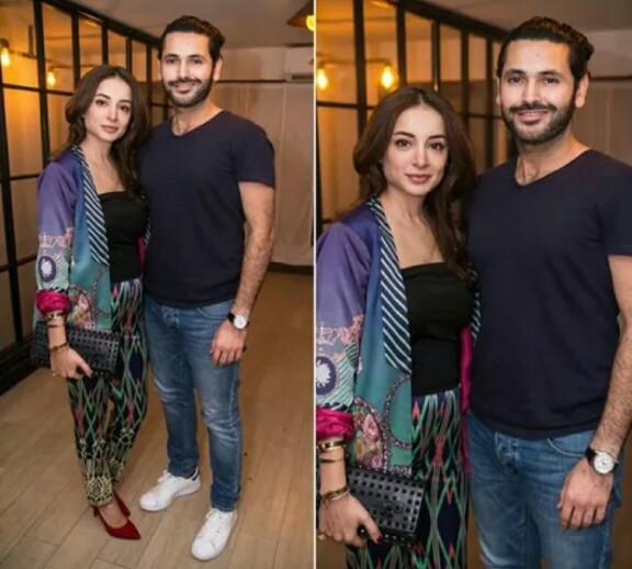 Fahad Mirza And Sarwat Gilani Clicked At A Wedding