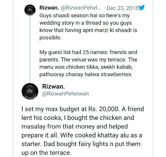 A Wedding In Only 20,000 Rupees Is Going Viral