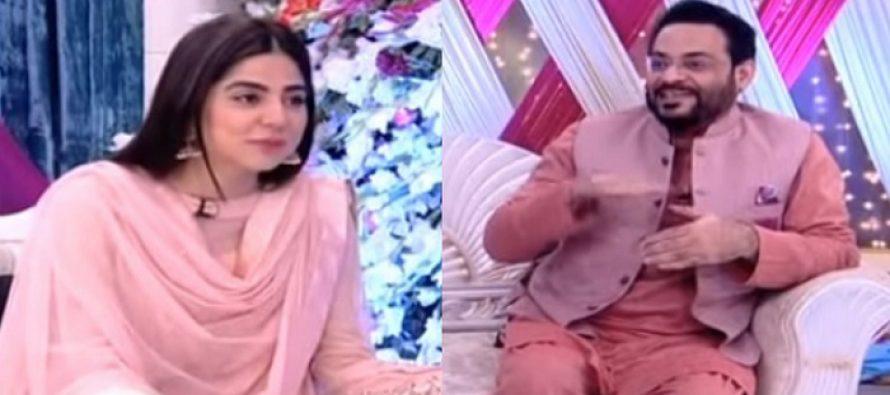 Aamir Liaquat and Sanam Baloch Flirt In Samaa's Morning Show