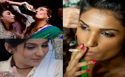 Pakistani Female Celebrities Who Smoke and Drink
