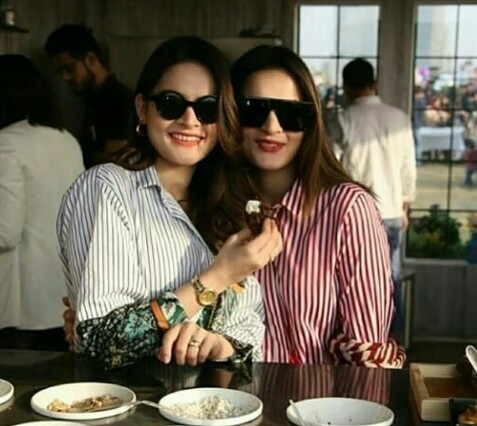 Aiman And Minal At A Food Event With Family