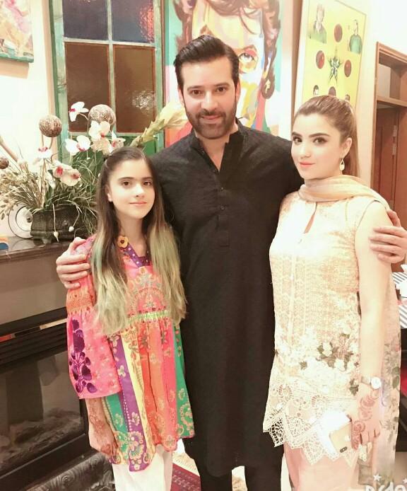 Moammar Rana With His Family