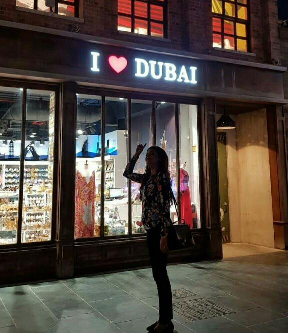 Benita David With Husband Asghar Ali In Dubai