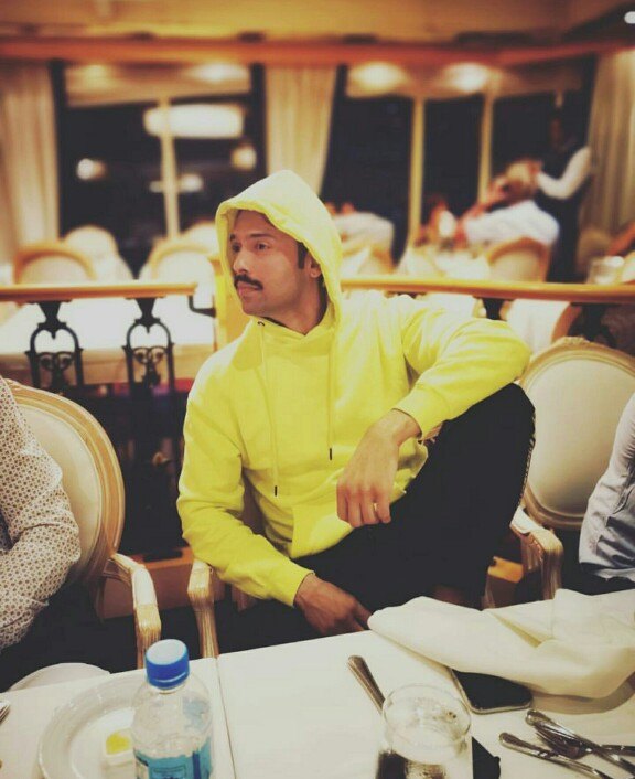 Fahad Mustafa On A Cruise In Singapore