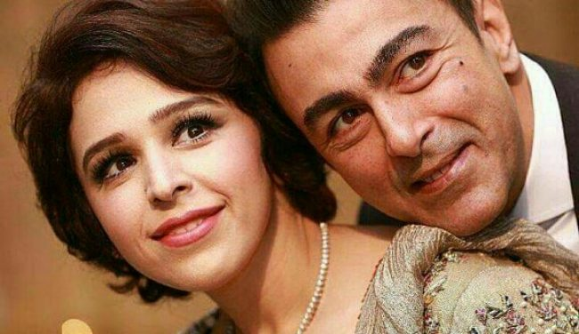 Shaan Shahid With Wife At A Wedding