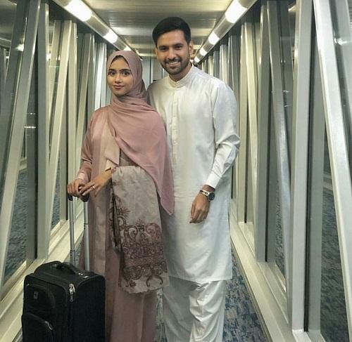 Zaid Ali And Wife Yumna Leave For Umrah