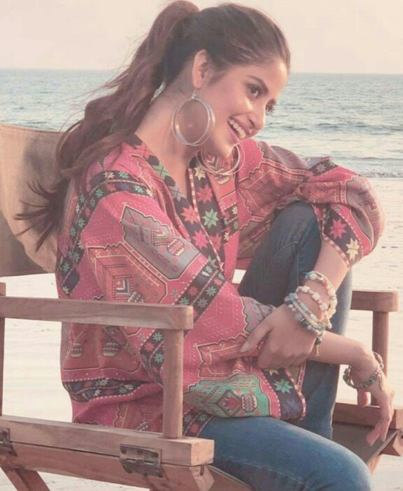 Some BTS Clicks Of Sajal Aly From A Shoot