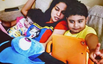Veena Malik Is One Devoted Mommy