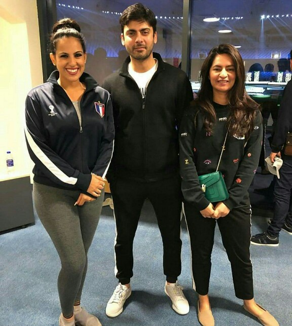 Fawad Khan With Wife Sadaf At Opening Ceremony Of PSL4