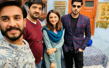 Yumna Zaidi And Imran Ashraf On The Sets Of Inkaar