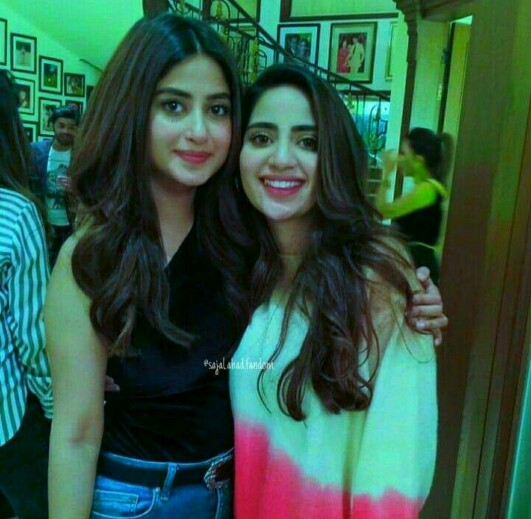 Sajal Aly Spotted With Ahad's Parents