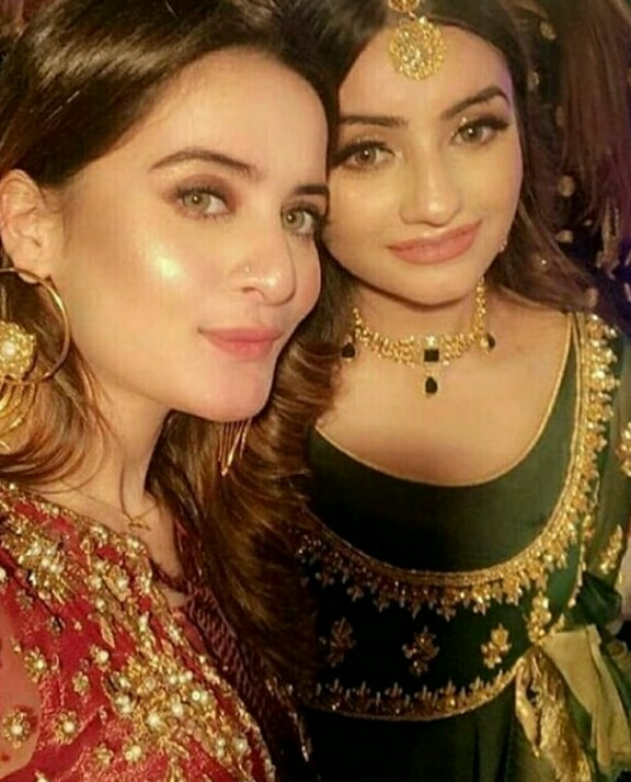 Aiman Khan And Minal Khan At A Wedding