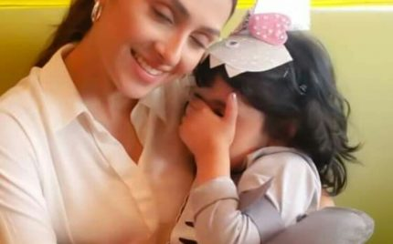 Ayeza Khan With Baby Shark Hoorain
