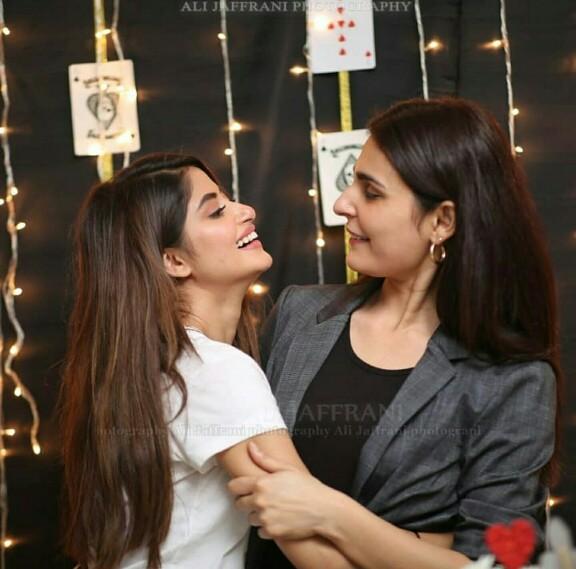 Sajal And Saboor At Sadia Ghaffar's Birthday