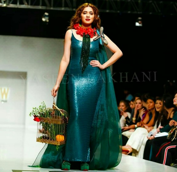 Azekah Daniel Is The Power Of Nature In A Green Dress