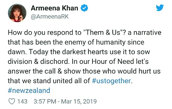 Pakistani Celebs Hand Support To NZ Terrorist Attack Victims