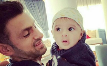 Shoaib Malik's Cute Moments With Son Izhaan