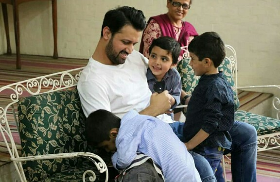 Atif Aslam And Wife Sara Spend Time At SOS Village