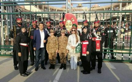 Reema Khan Visits Wagah Border
