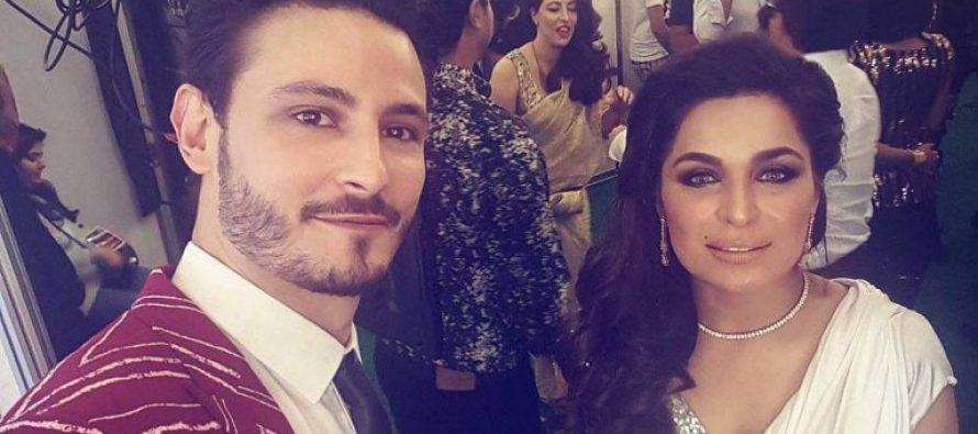 Osman Khalid Butt Shares A Moment With Meera Jee