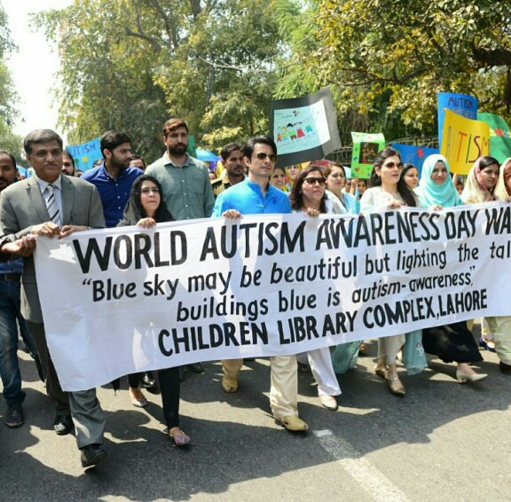 Ali Zafar Marched For World Autism Day